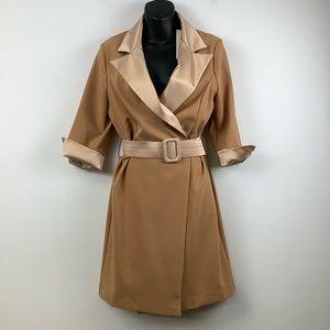 NWT Rinascimento Belted Blazer Dress in Beige